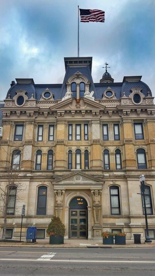 Wooster韦恩县法院大楼俄亥俄 库存照片