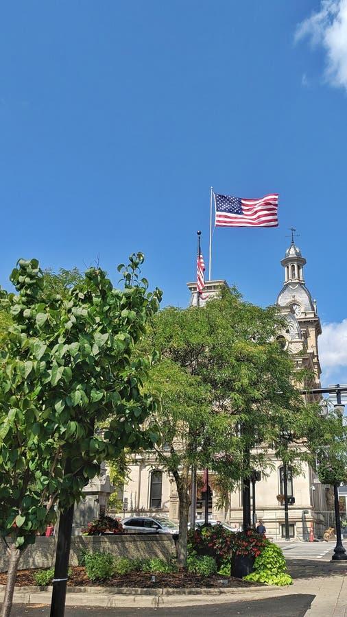 Wooster-Land Ohio-Gericht stockbild