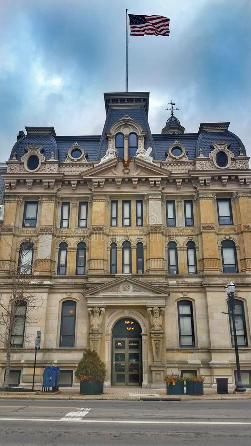 Wooster Wayne County Courthouse Ohio foto de archivo
