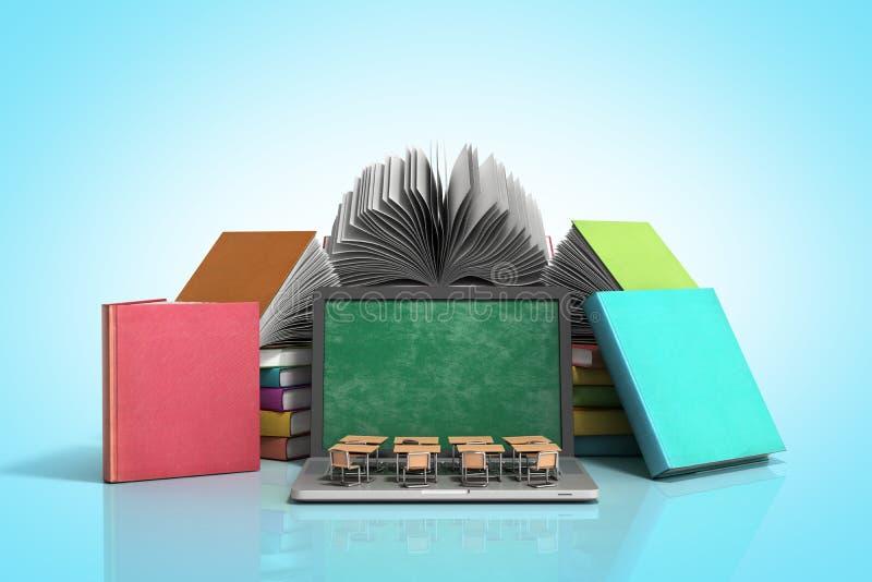 Wor móvel da escola do conhecimento ou do escritório para negócios do ensino universitário ilustração stock