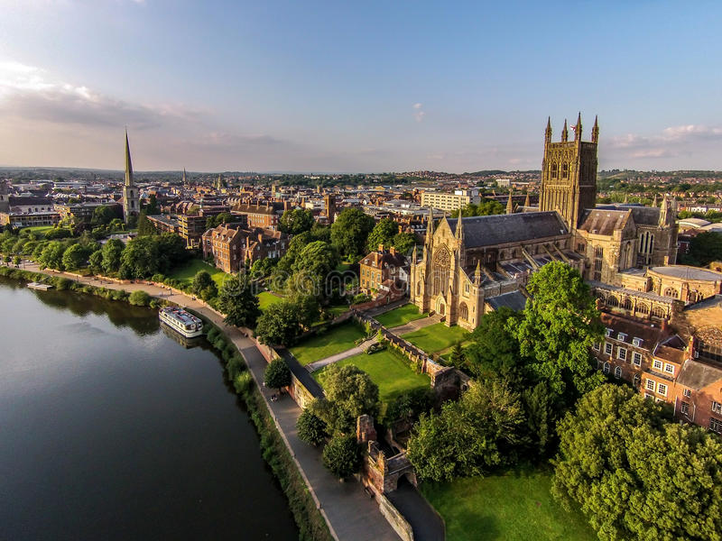 Worcester Cathedral royalty free stock photography