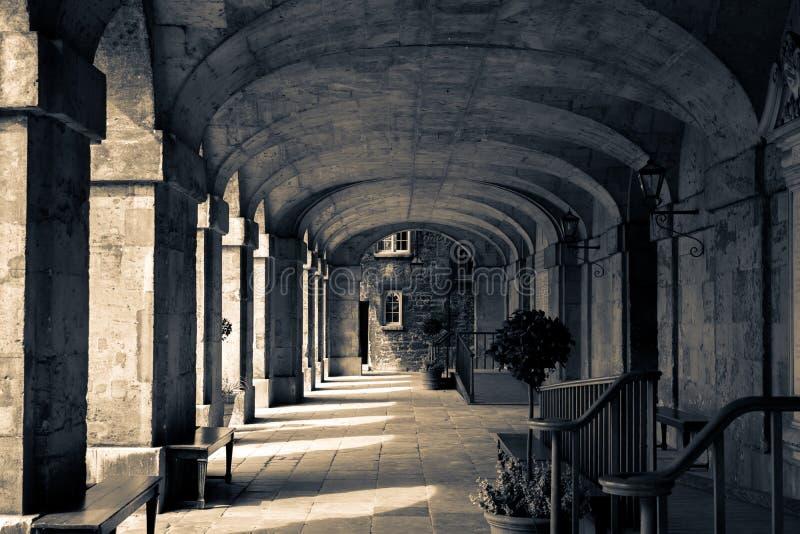 Worcester-Collegefrontgalerie stockbilder