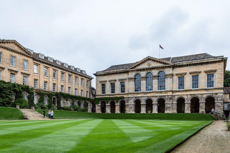 Worcester högskola i Oxford royaltyfria bilder