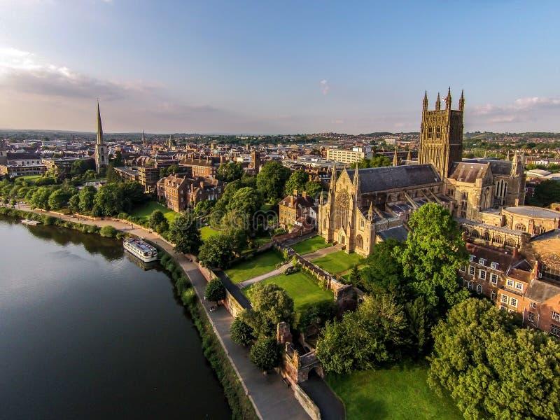 Worcester-Kathedrale lizenzfreie stockfotografie