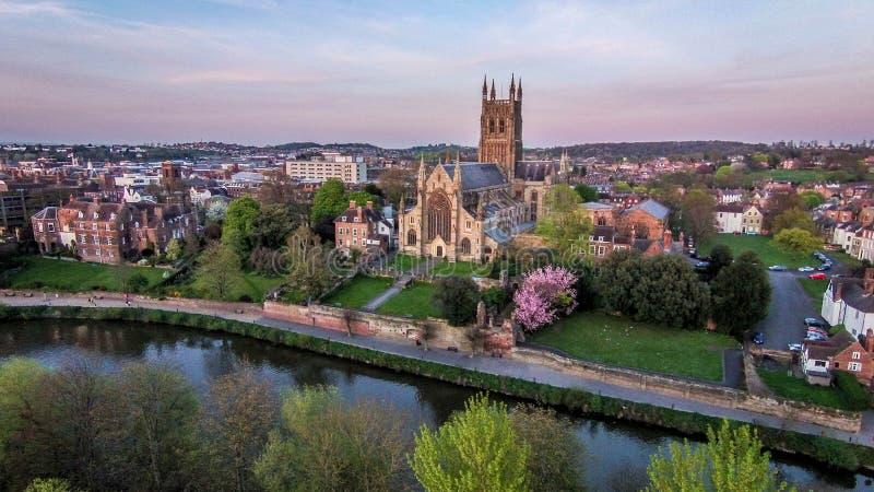 Worcester-Kathedrale stockfoto