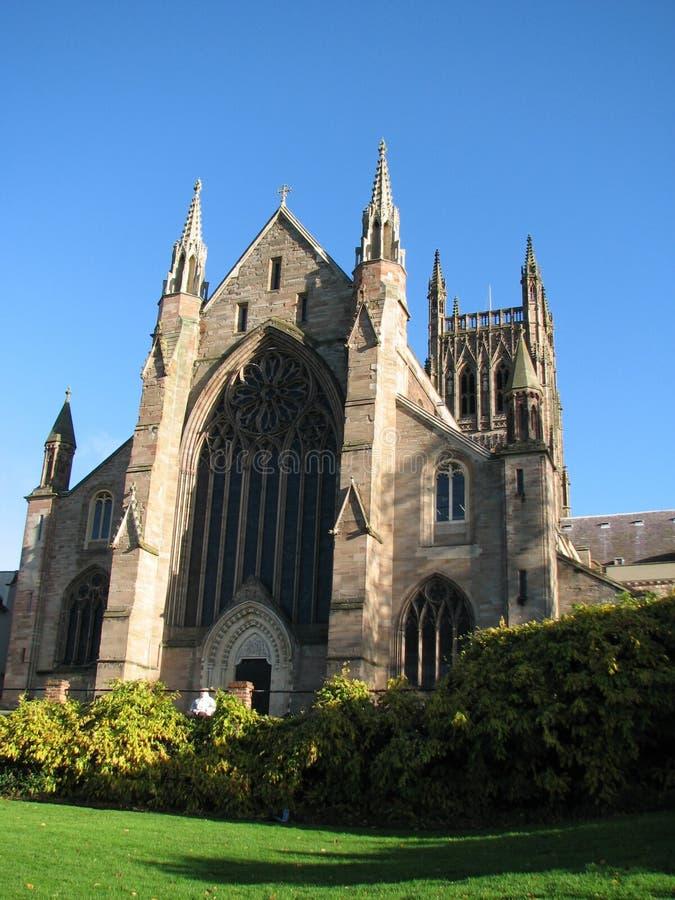 Worcester-Kathedrale Großbritannien stockbilder