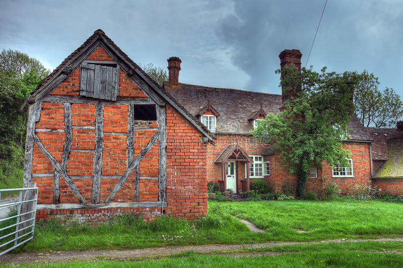 Worcestershire-Bauernhaus lizenzfreie stockfotografie