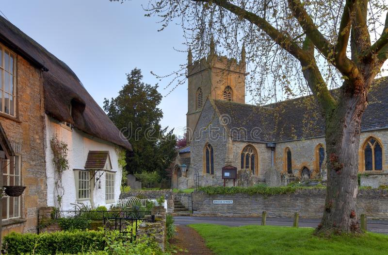 Worcestershire-Dorf stockfotos