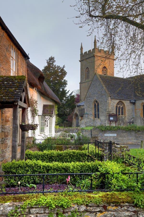 Worcestershire-dorp royalty-vrije stock afbeeldingen