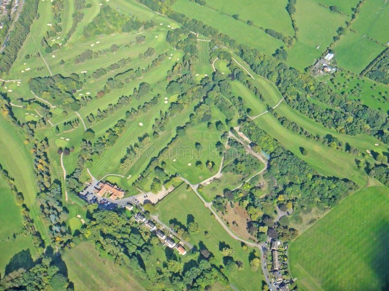Worcestershire-Golfcursus, Engeland royalty-vrije stock fotografie
