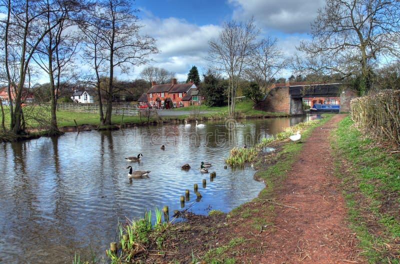 Worcestershire-kanaal stock foto