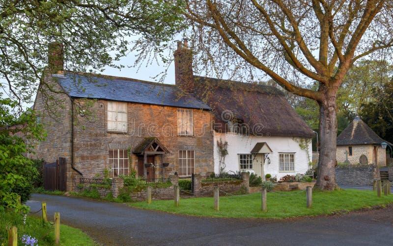 Worcestershire-Plattelandshuisjes royalty-vrije stock afbeelding
