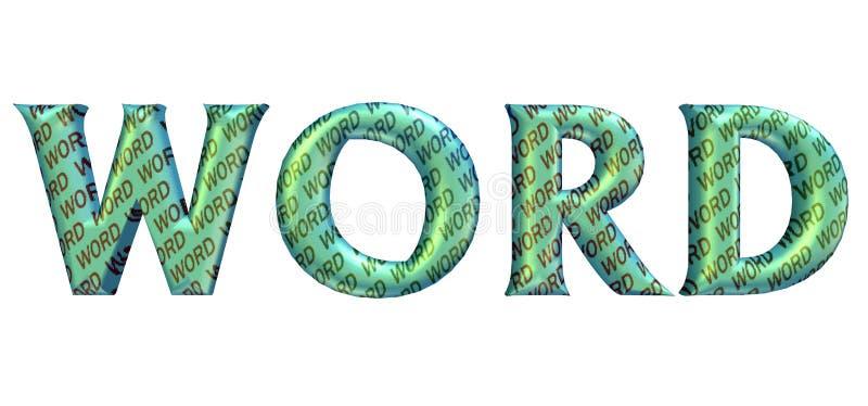 """Word'stekst in het 3D vorm verpakken met """"WORD"""" binnen teksten royalty-vrije stock afbeelding"""