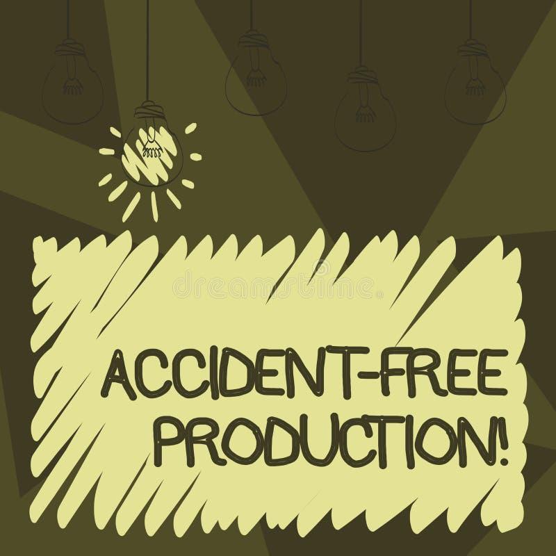 Word écrivant à accident des textes la production libre Concept d'affaires pour la productivité sans travailleurs blessés aucun i illustration de vecteur