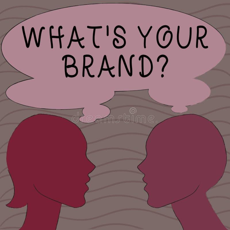 Word écrivant à texte ce qui S votre question de marque Le concept d'affaires pour s'enquérir du logo de produit fait ou ce qui v illustration de vecteur