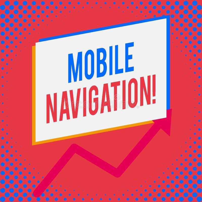 Word écrivant à texte la navigation mobile Concept d'affaires pour l'interface utilisateur graphique employée pour faciliter le c illustration de vecteur