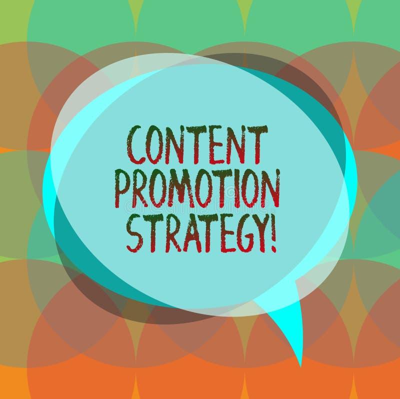 Word écrivant à texte la stratégie satisfaite de promotion Le concept d'affaires pour engager dans l'assistance au-dessus des pro illustration de vecteur