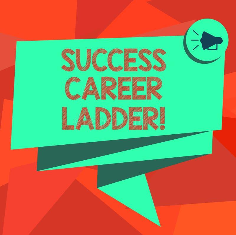 Word écrivant l'échelle de carrière de succès des textes Le concept d'affaires pour le mouvement de la carrière à l'échelle d'ent illustration stock
