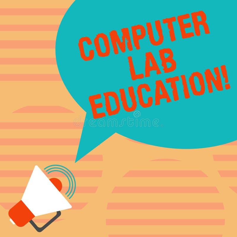 Word écrivant l'éducation de laboratoire d'ordinateur des textes Concept d'affaires pour la pièce ou espace équipé de l'utilisati illustration libre de droits