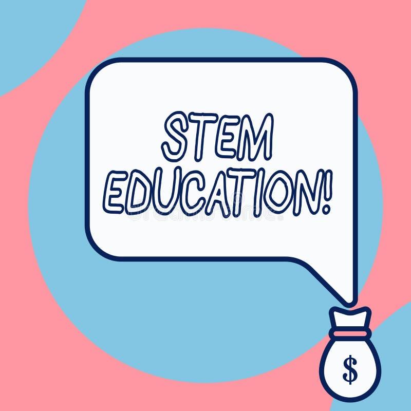 Word écrivant l'éducation de tige des textes Concept d'affaires pour que se développer prépare les étudiants primaires et seconda illustration stock