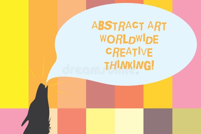Word écrivant l'abrégé sur Art Worldwide Creative Thinking les textes Concept d'affaires pour d'inspiration la découpe moderne ar illustration libre de droits