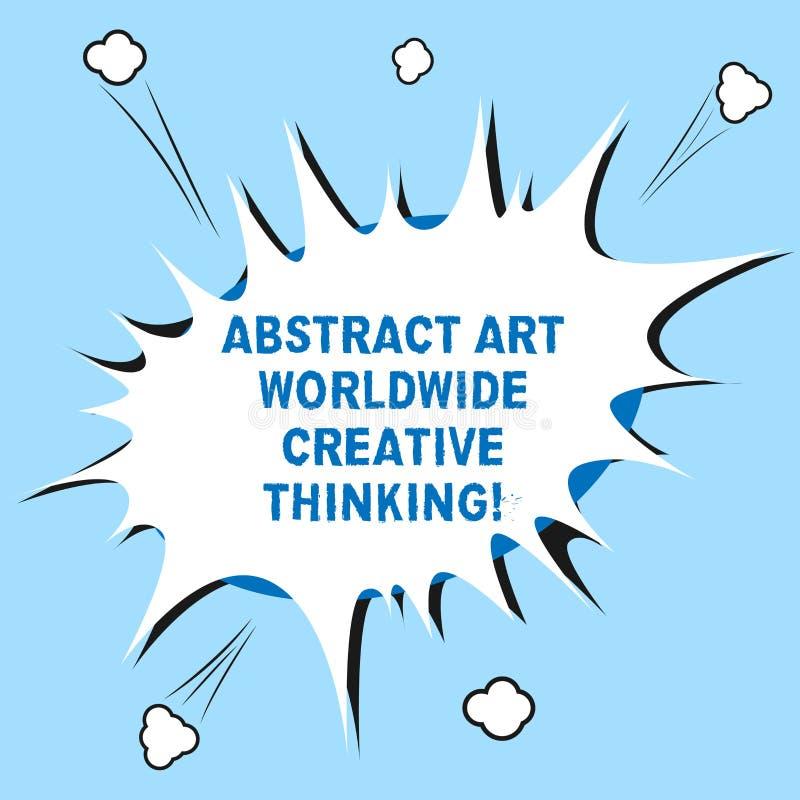 Word écrivant l'abrégé sur Art Worldwide Creative Thinking les textes Concept d'affaires pour d'inspiration le blanc moderne arti illustration de vecteur
