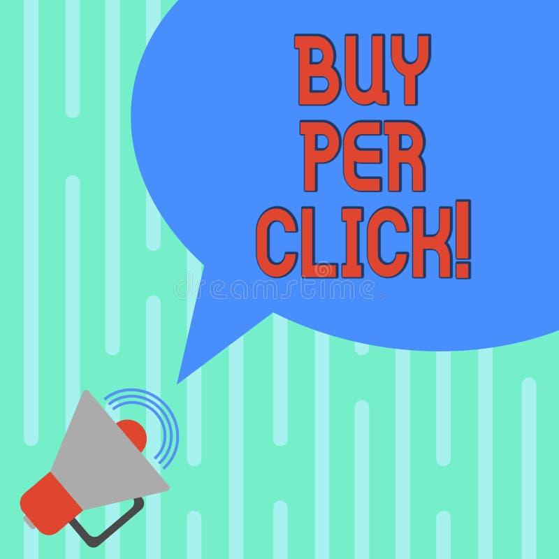 Word écrivant l'achat des textes par clic Concept d'affaires pour que les technologies modernes acquéreuses en ligne de commerce  illustration de vecteur