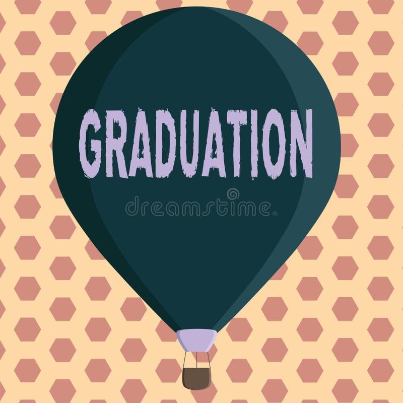 Word écrivant l'obtention du diplôme des textes Concept d'affaires pour la réception ou la conférence de la certification de dipl illustration de vecteur