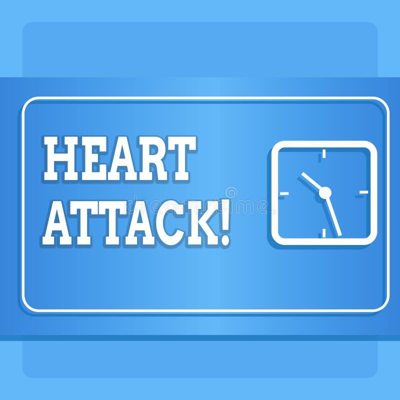 Word écrivant la crise cardiaque des textes Concept d'affaires pour l'occurrence soudaine de l'infarctus du myocarde ayant pour r illustration de vecteur