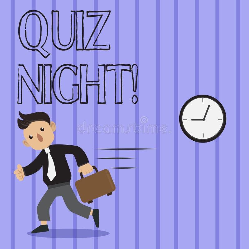 Word écrivant la nuit de jeu-concours des textes Concept d'affaires pour égaliser la concurrence de la connaissance d'essai entre illustration libre de droits