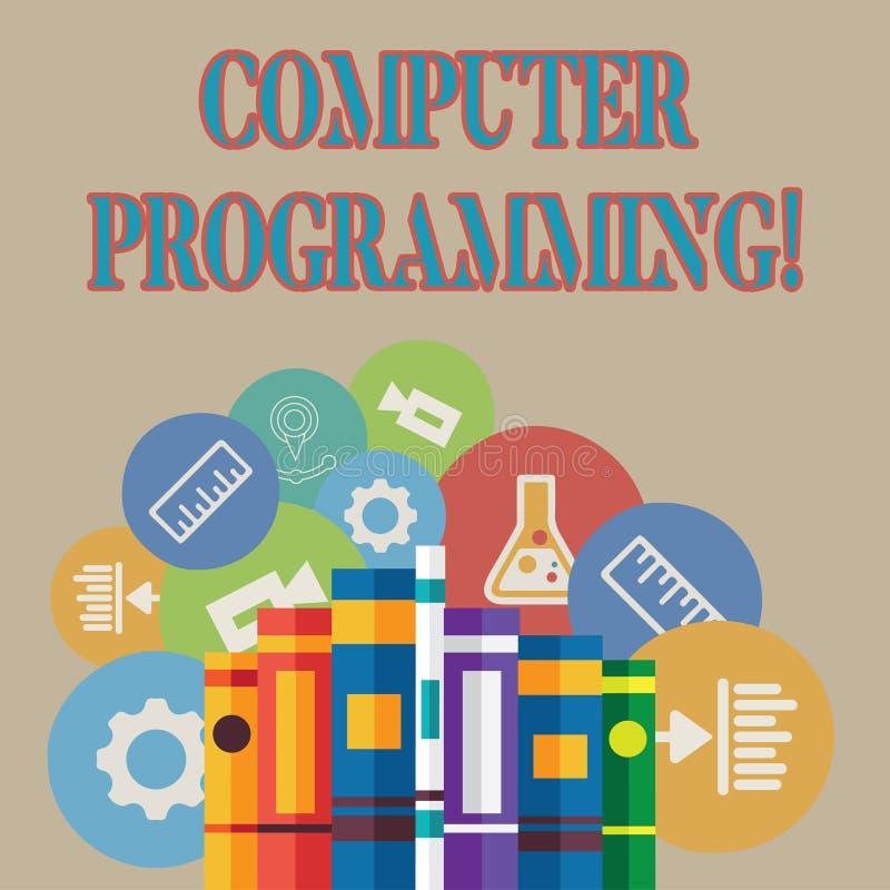 Word écrivant la programmation par ordinateur des textes Concept d'affaires pour le processus qui instruit un ordinateur sur la  illustration de vecteur