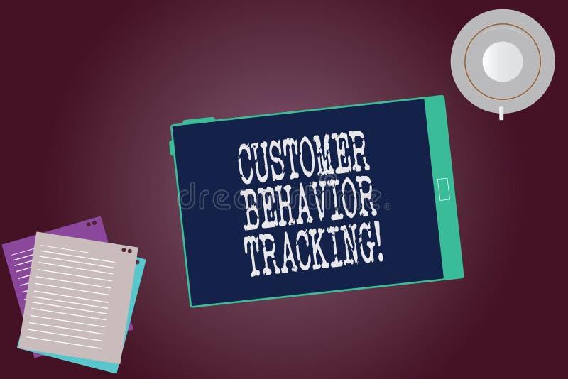 Word écrivant le cheminement de comportement de client des textes Concept d'affaires pour une mesure qu'un utilisateur prend conn illustration de vecteur