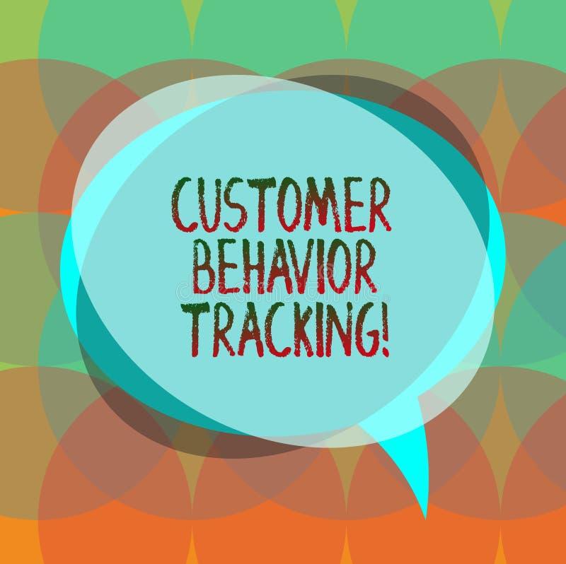 Word écrivant le cheminement de comportement de client des textes Concept d'affaires pour une mesure qu'un utilisateur prend conn illustration libre de droits