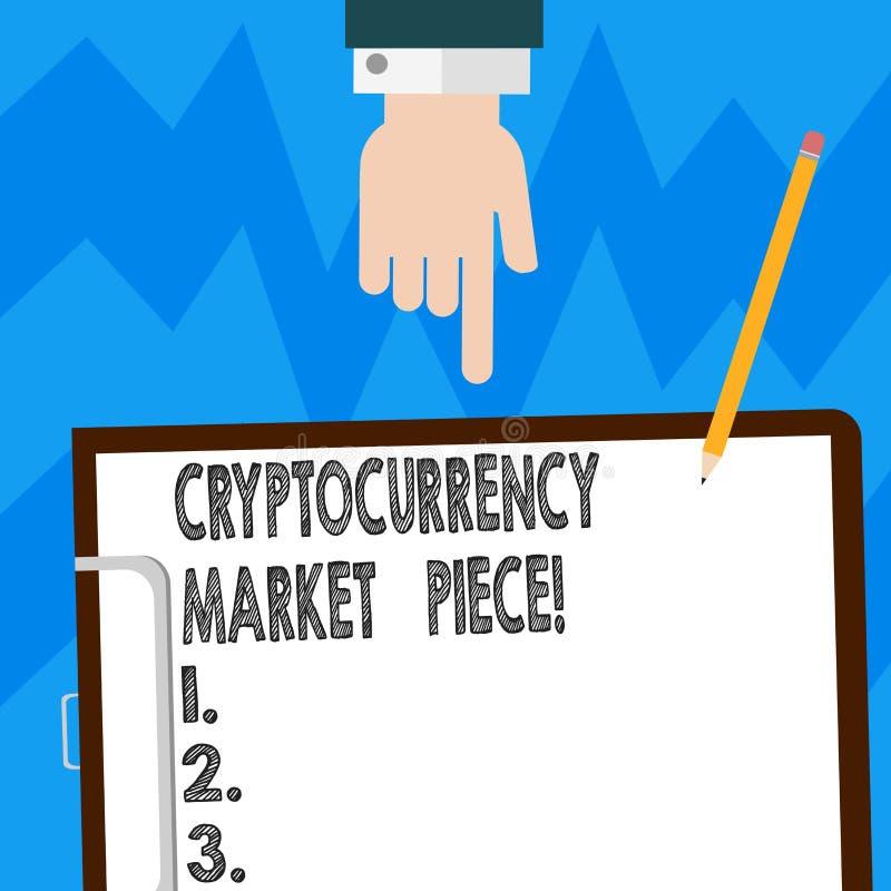 Word écrivant le morceau du marché de Cryptocurrency des textes Concept d'affaires pour les capitaux de Digital qui peuvent être  illustration stock
