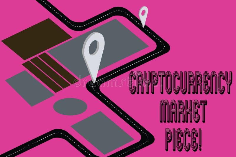Word écrivant le morceau du marché de Cryptocurrency des textes Concept d'affaires pour les capitaux de Digital qui peuvent être  illustration de vecteur