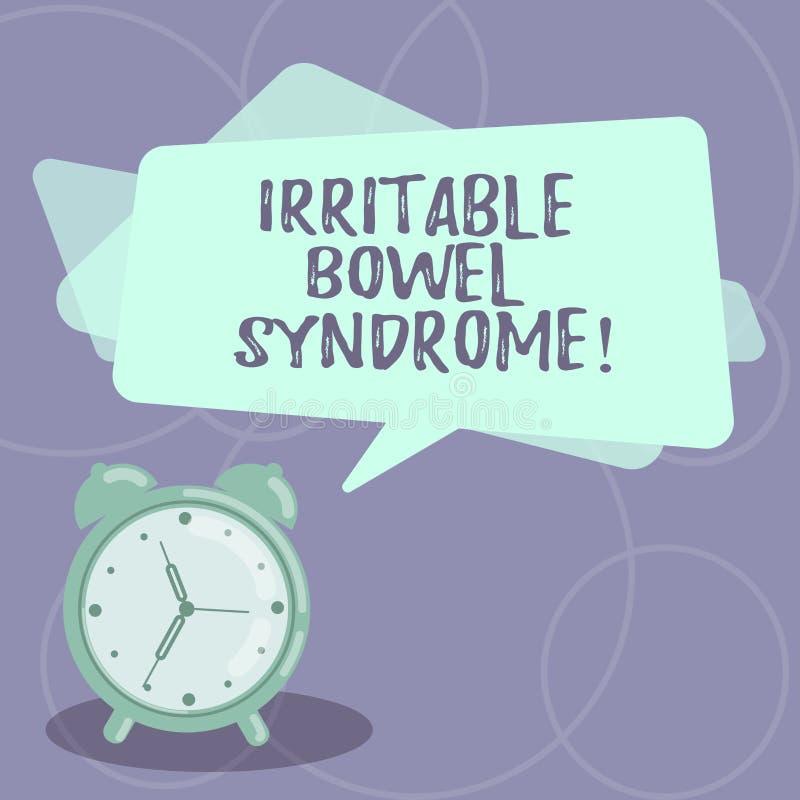 Word écrivant le syndrome du côlon irritable des textes Le concept d'affaires pour le désordre impliquant la douleur abdominale e illustration de vecteur