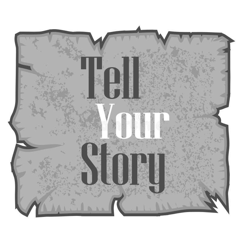 Word, écrivant racontent votre histoire Concept d'illustration de vecteur pour dire des expériences antérieures personnelles illustration de vecteur
