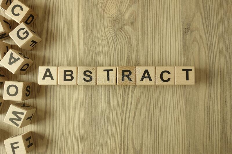 Word abstract from wooden blocks royalty free stock photography