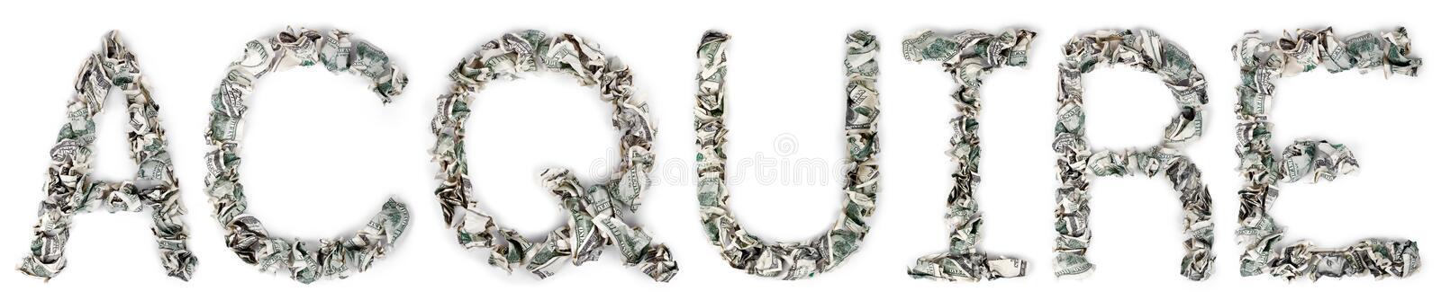 Download Acquire - Crimped 100$ Bills Stock Image - Image: 29762963