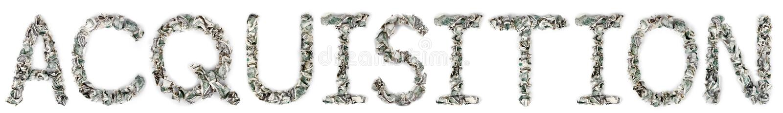 Download Acquisition - Crimped 100$ Bills Stock Photos - Image: 29762833