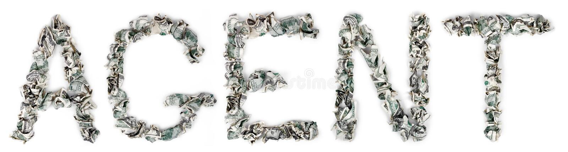 Download Agent - Crimped 100$ Bills stock image. Image of loan - 29803823