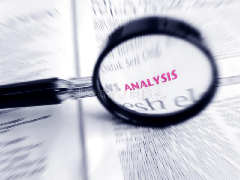 Word Analysis in focus royalty free stock photography
