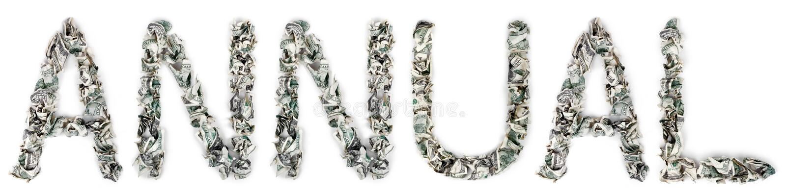 Download Annual - Crimped 100$ Bills Stock Photo - Image: 29887412