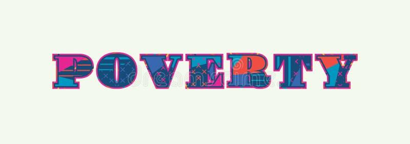 Word Art Illustration van het armoedeconcept vector illustratie