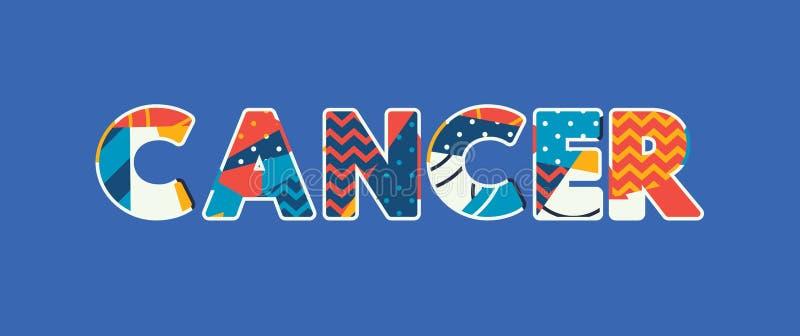 Word Art Illustration van het kankerconcept vector illustratie