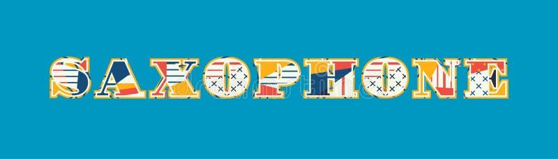 Word Art Illustration van het saxofoonconcept vector illustratie