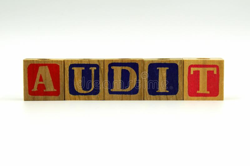 The word AUDIT stock photography