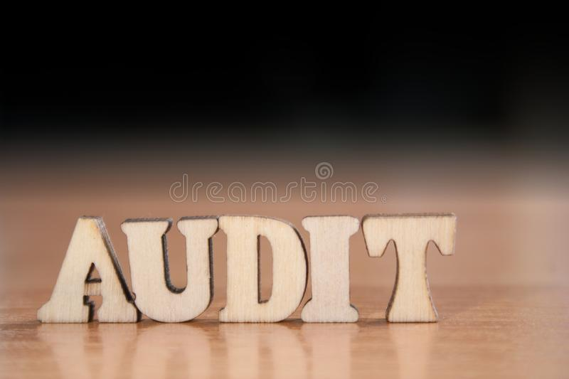 Word audit stock photography