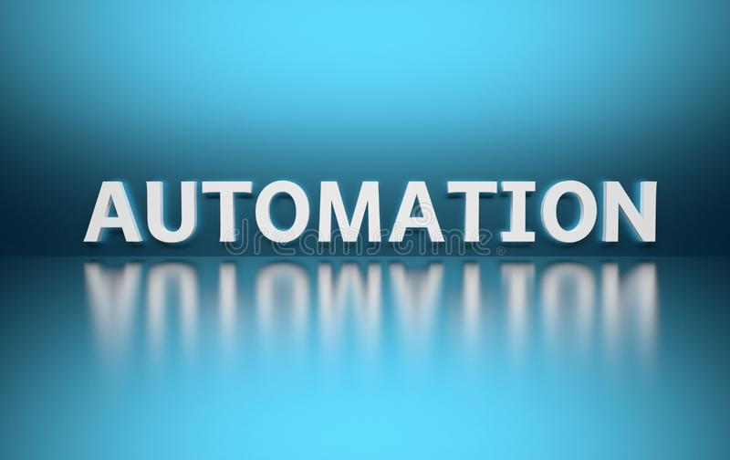 Word Automation on blue background royalty free illustration