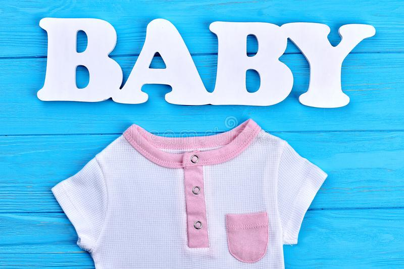 Word baby and cotton baby t-shirt. stock images